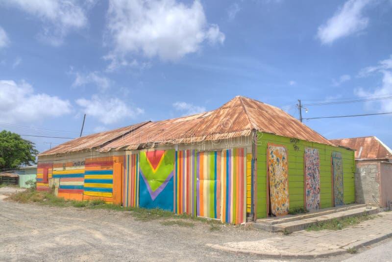 Scharloo rayó el edificio de madera fotos de archivo libres de regalías