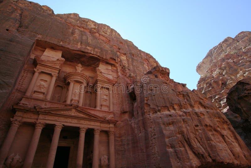 Schatkist bij Petra stock fotografie