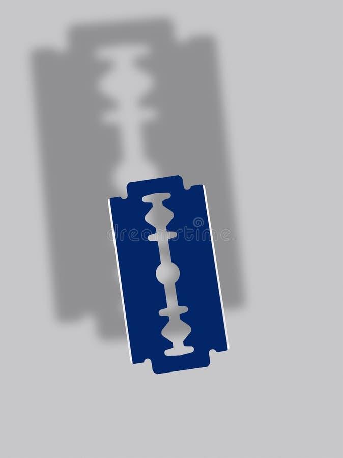 Schatten-Blatt-Rasiermesser stockbild