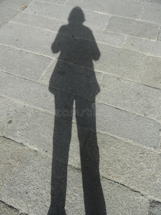 Schatten der Frau lizenzfreie stockbilder