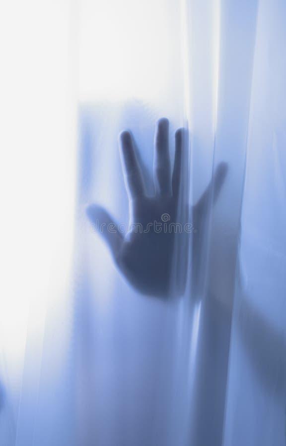 Schatten der Grausigkeithand stockfotografie