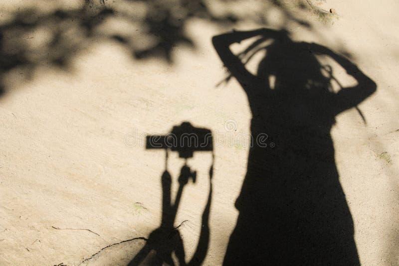 Schatten der Leute stockfoto