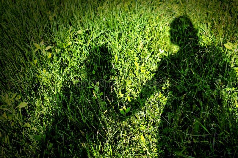 Schatten der Mutter und des Kindes stockbild