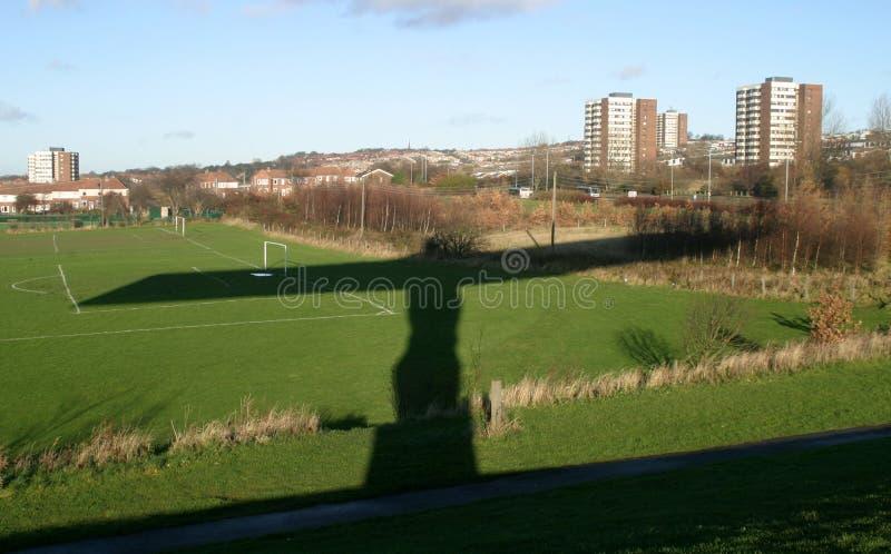 Schatten des Engels des Nordens stockbild