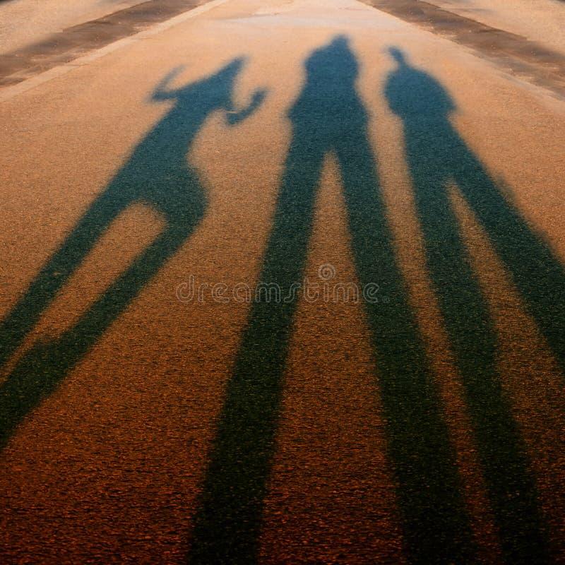 Schatten, die in den Unschärfen beenden