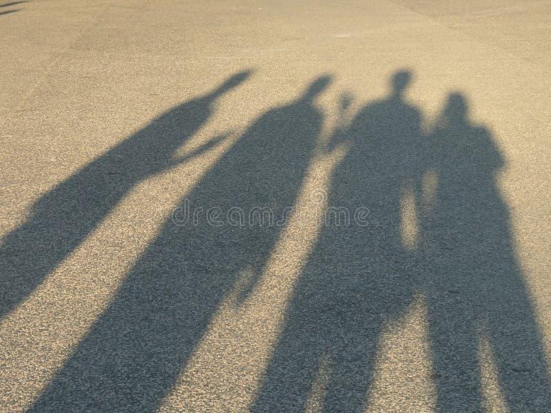Schatten einer Gruppe von Personen lizenzfreies stockfoto