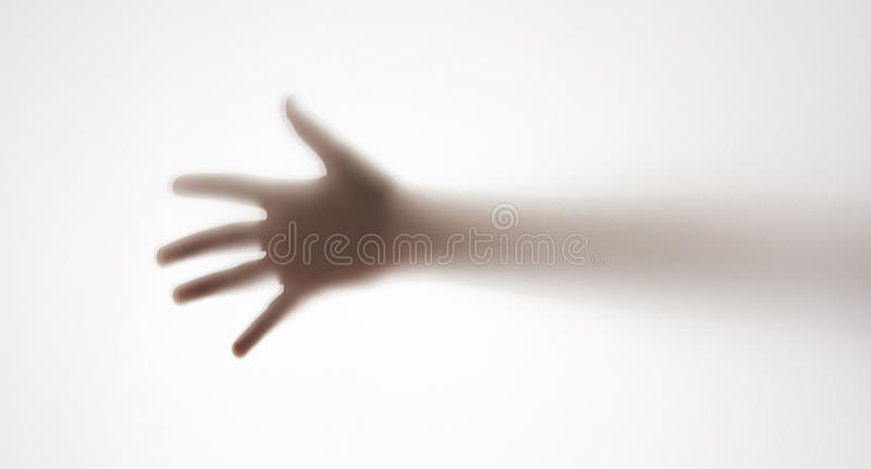 Schatten einer Hand stockfotografie
