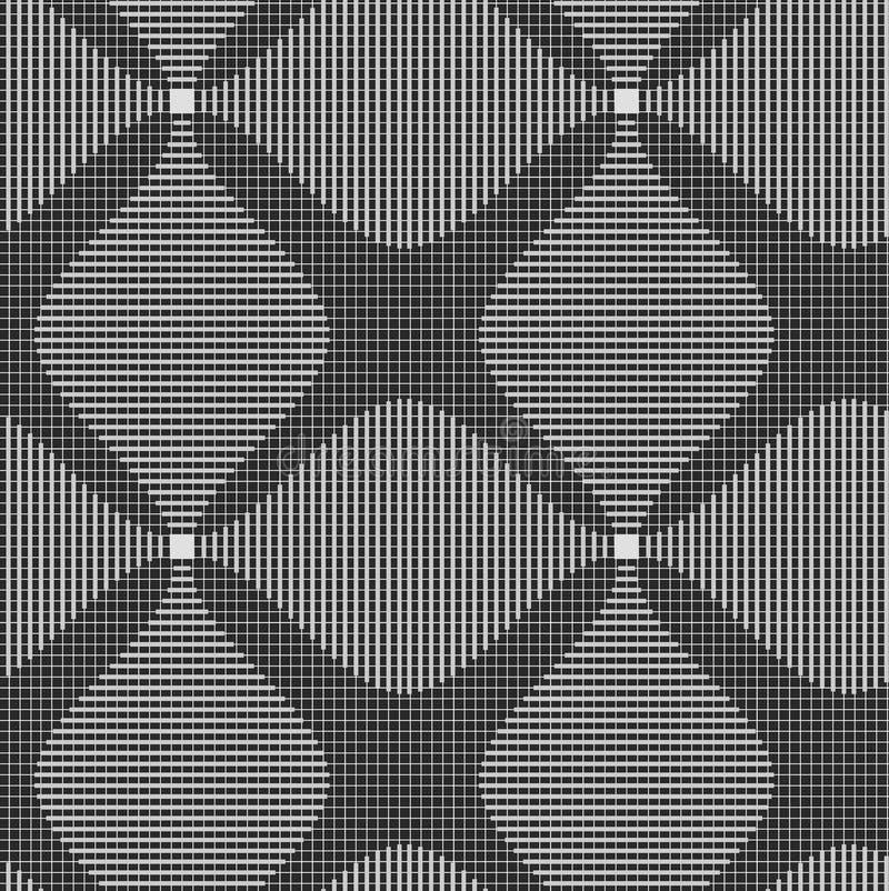 Schatten grauer dunkler und heller gestreifter Folie vier stock abbildung