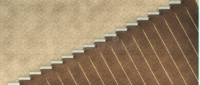Schatten unter Treppe lizenzfreie abbildung