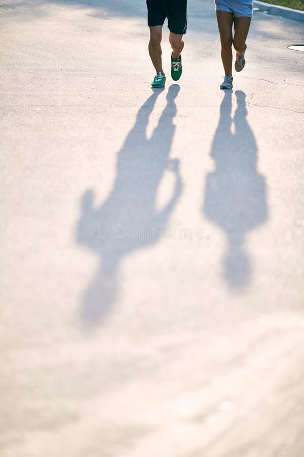 Schatten von Läufern lizenzfreie stockbilder