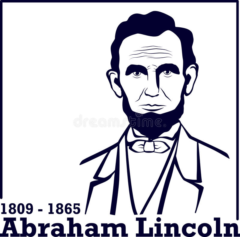 Schattenbild Abraham Lincoln vektor abbildung
