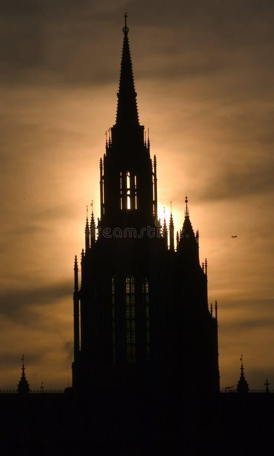 Schattenbild der Häuser des Parlaments stockbilder