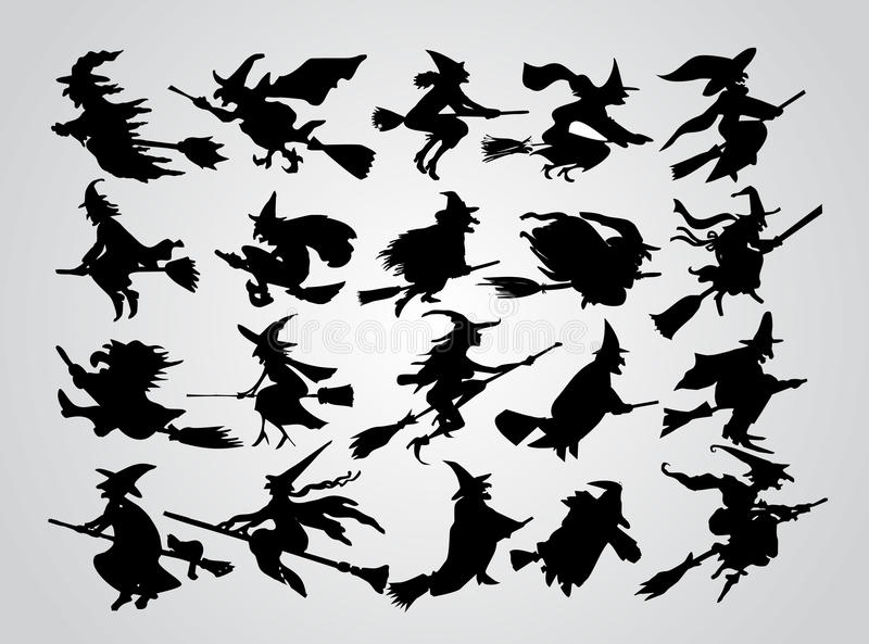 Das Schattenbild der Hexe vektor abbildung