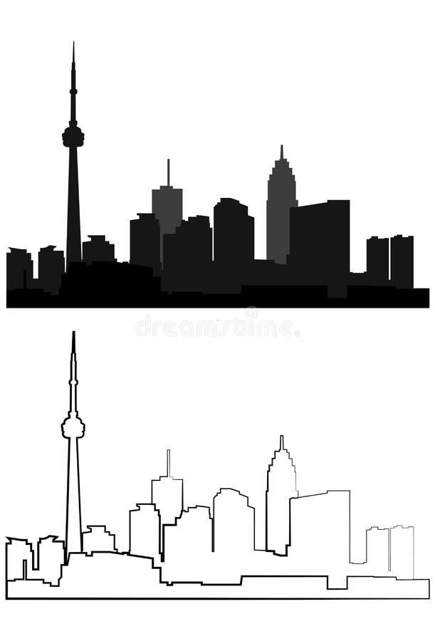 Schattenbild der Stadt in Schwarzem 18 lizenzfreie stockbilder