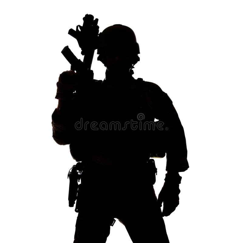 Schattenbild des Armeeförsters Vereinigter Staaten stockbilder