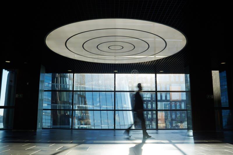 Schattenbild des Büroangestellten lizenzfreies stockbild
