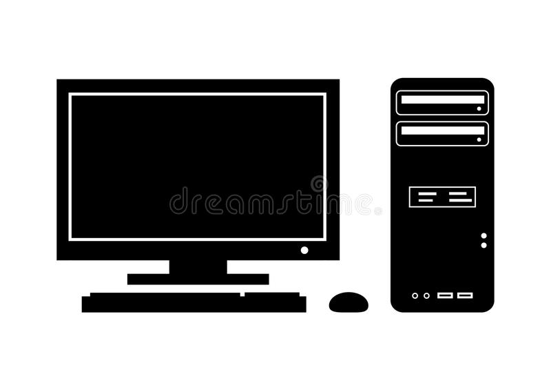Schattenbild des Computers