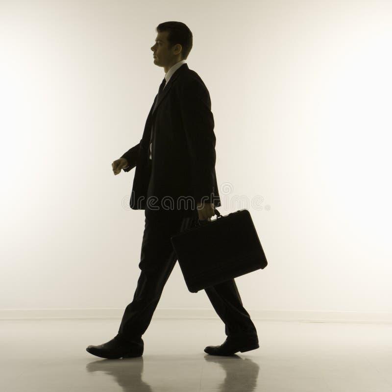 Schattenbild des Geschäftsmannes lizenzfreies stockbild