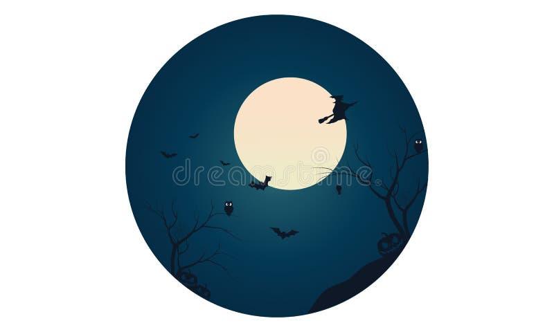 Schattenbild des Hexen- und Schlägerfliegens stock abbildung