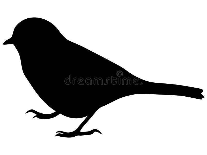 Schattenbild des kleinen Vogels lizenzfreie abbildung