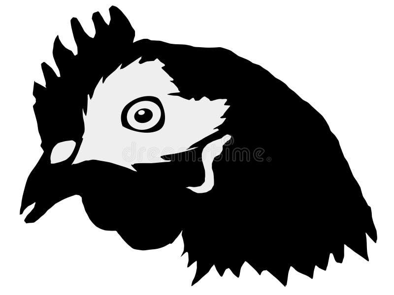 Schattenbild des Kopfes der Henne vektor abbildung