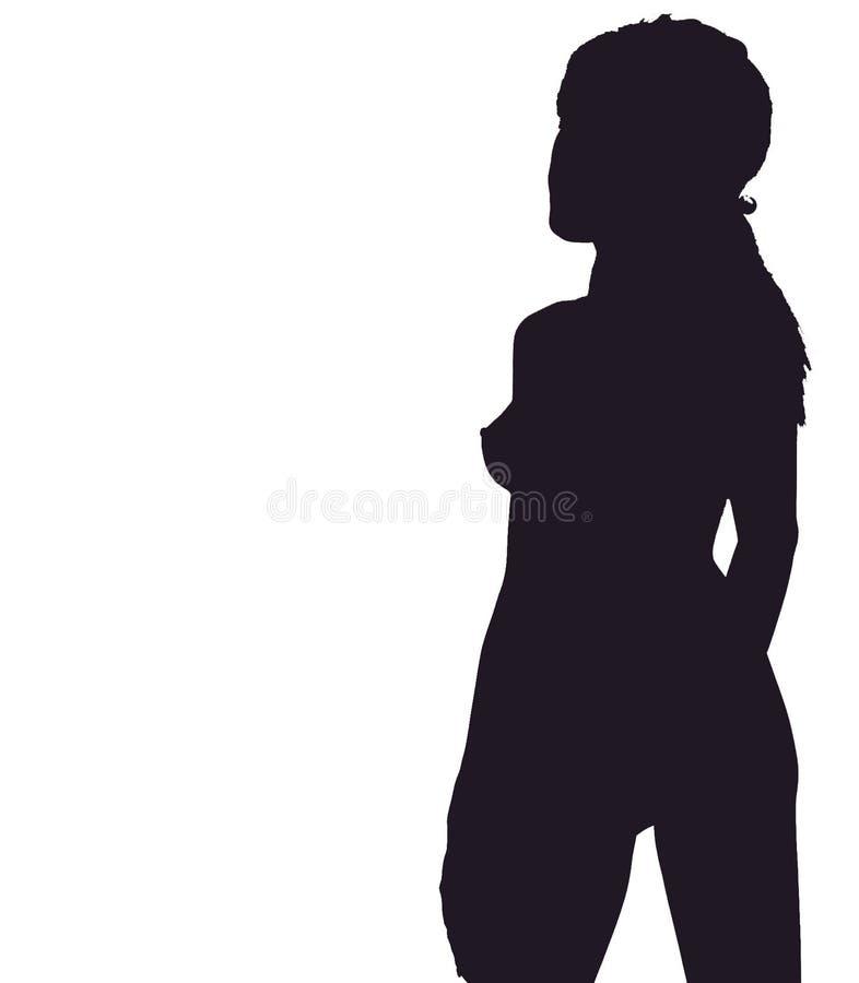 Schattenbild Des Mädchens Stockfoto