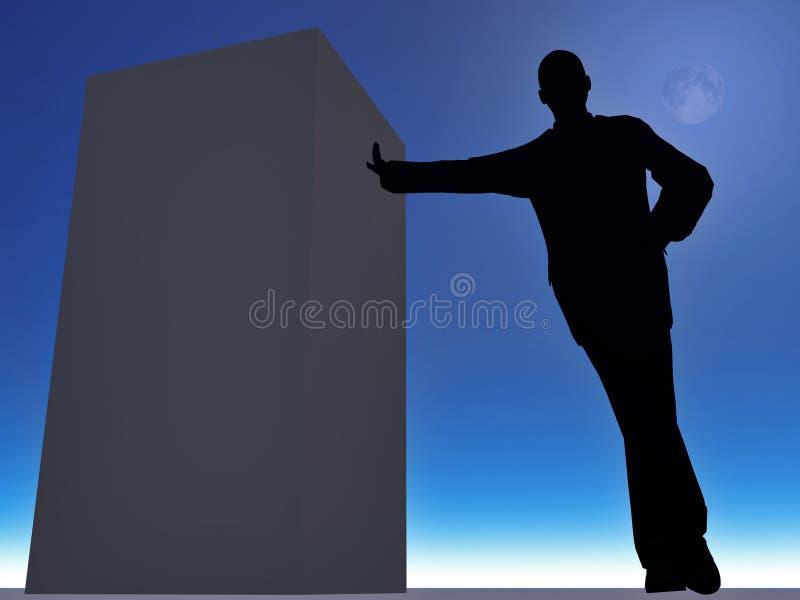Schattenbild des Mannes vektor abbildung