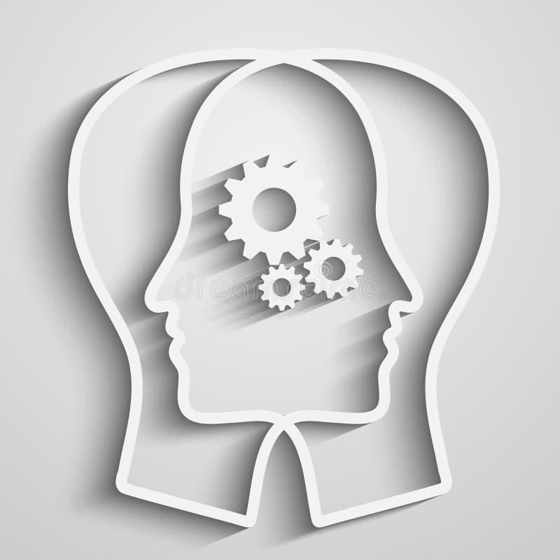 Schattenbild des menschlichen Kopfes vektor abbildung