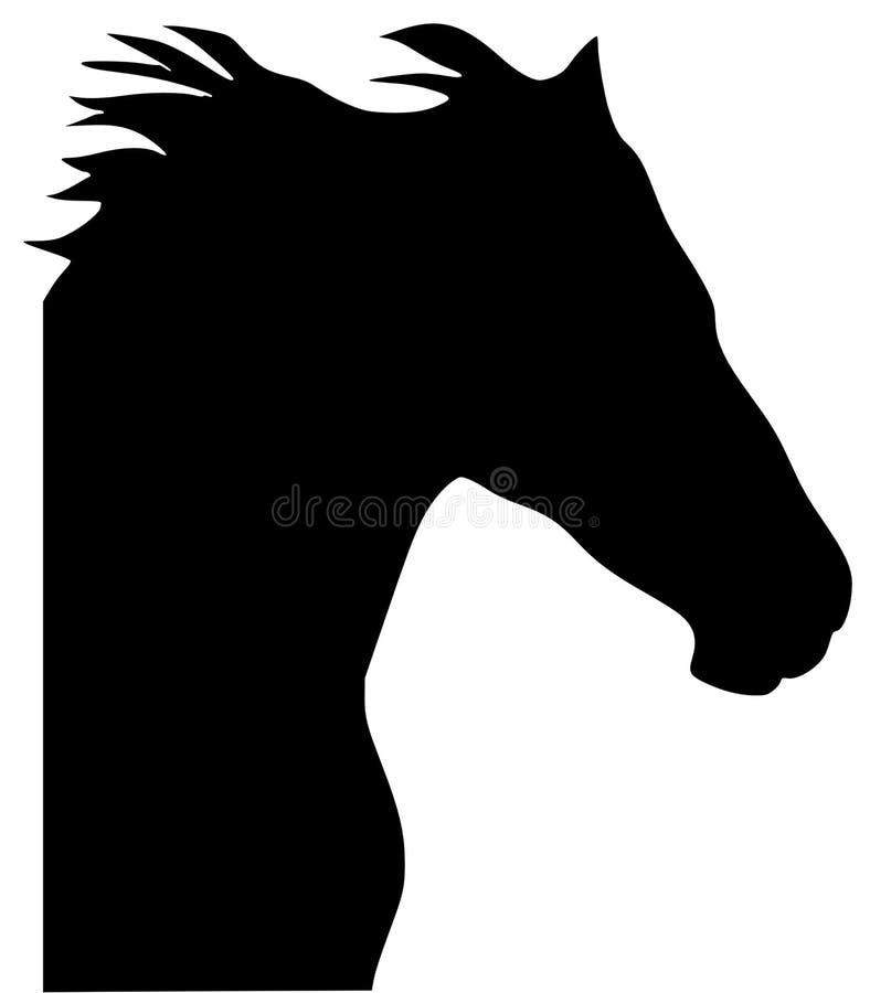 Schattenbild des Pferds stock abbildung