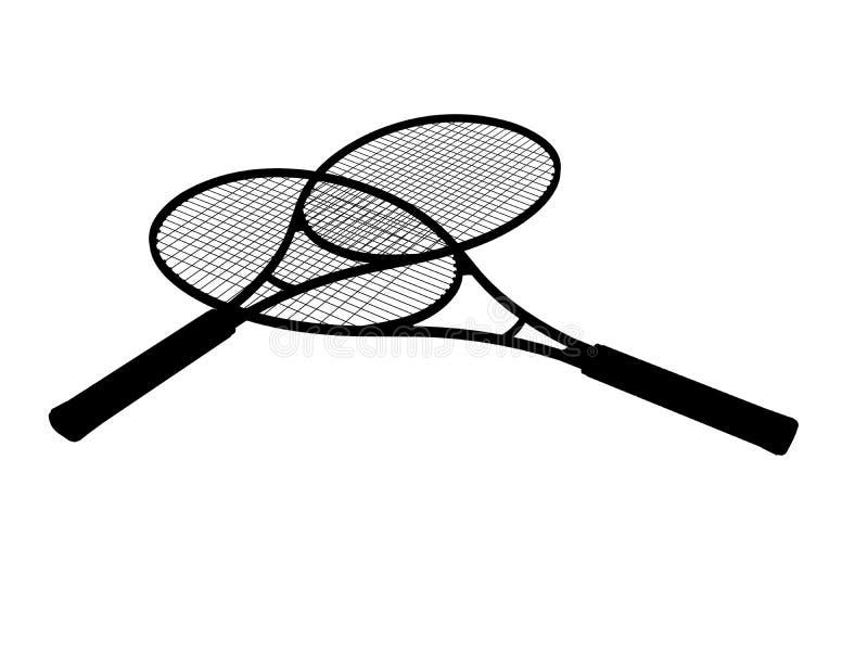 Schattenbild des Tennisschlägers vektor abbildung