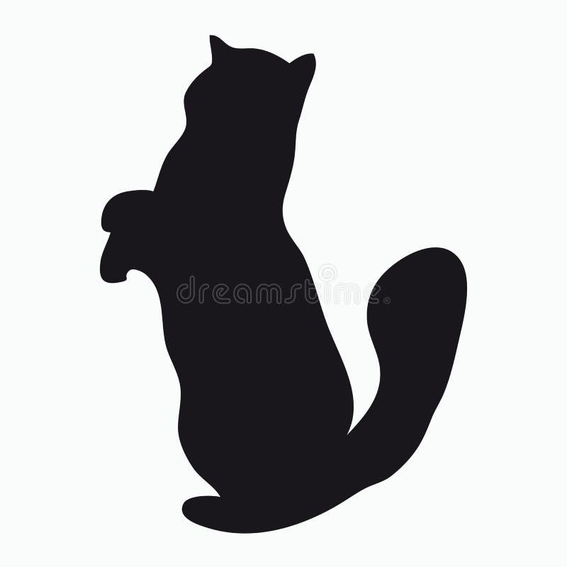 Schattenbild einer Katze stock abbildung