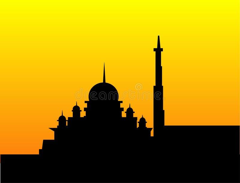 Schattenbild einer Moschee vektor abbildung