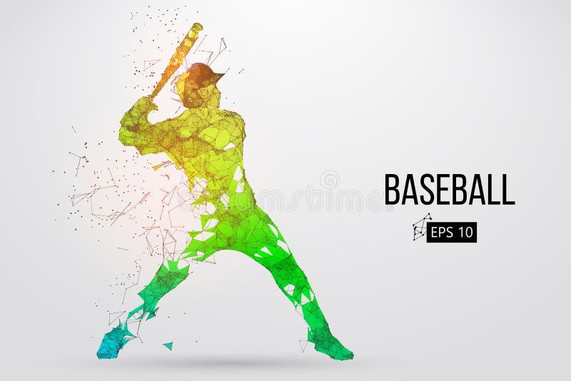 Schattenbild eines Baseball-Spielers Auch im corel abgehobenen Betrag