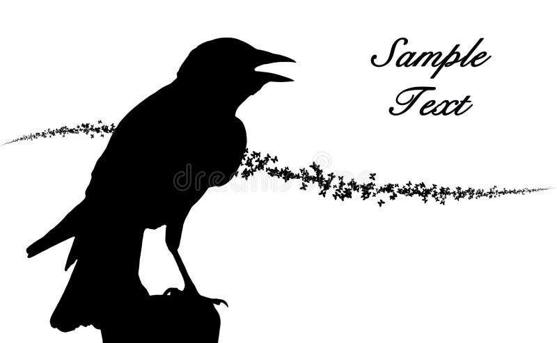 Schattenbild eines Gesangvogels stock abbildung