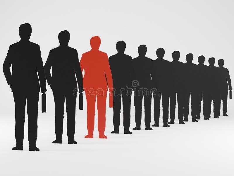 Schattenbild eines Geschäftsmannes lizenzfreie abbildung