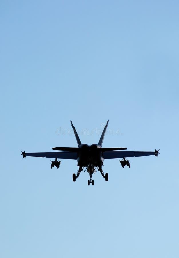 Schattenbild F-18 lizenzfreie stockfotografie