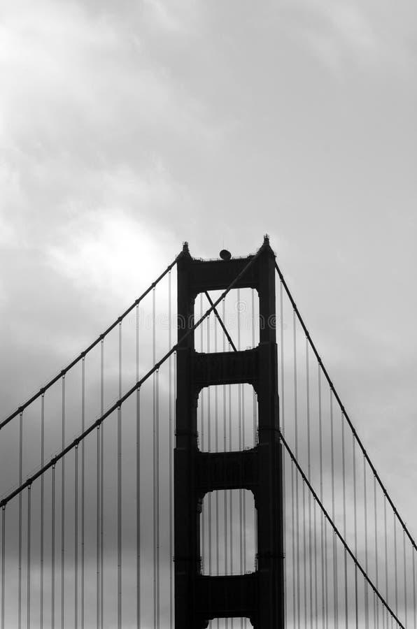 Schattenbild Golden gate bridges in San Fransisco, CA lizenzfreies stockfoto