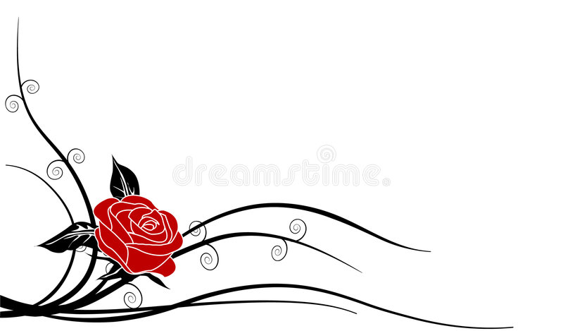 Schattenbild Rose 1a stock abbildung