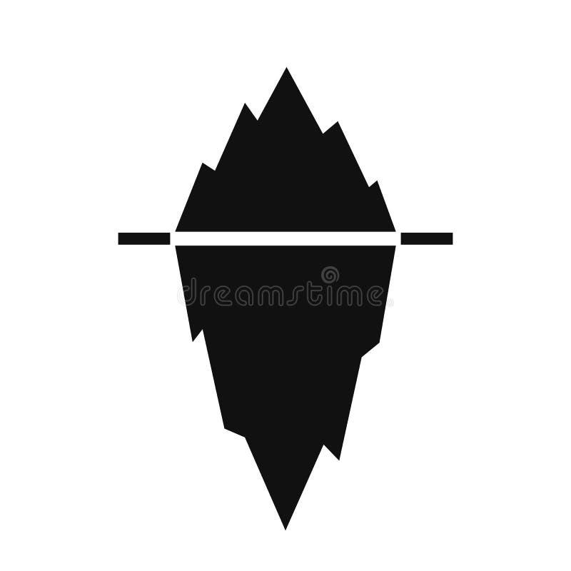 Schattenbild-Vektorillustration des Eisbergs schwarze stock abbildung