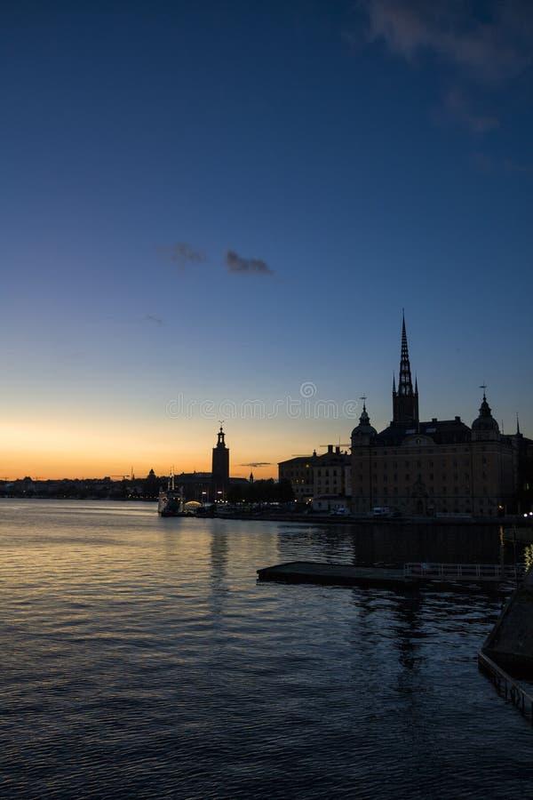 Schattenbild von Stockholm stockfoto