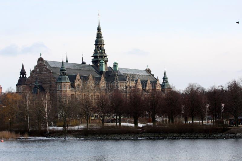 Schattenbild von Stockholm stockbilder