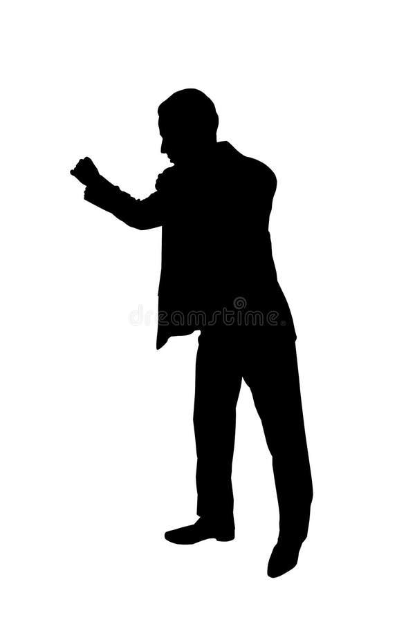 Schattenbildabbildung des jungen Geschäftsmannes lizenzfreies stockbild