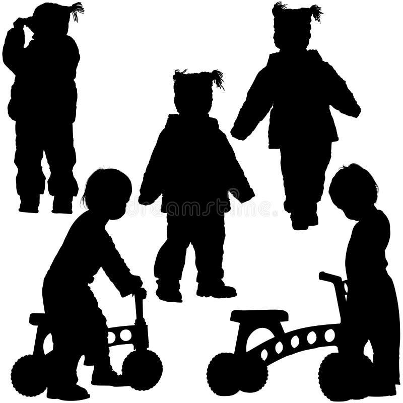 Schattenbilder 06 der Kinder stock abbildung