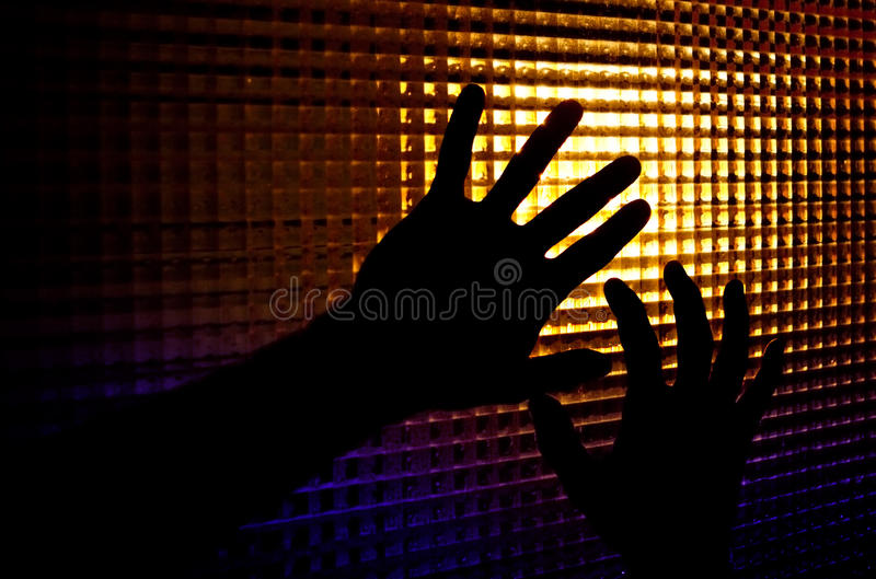 Schattenbilder der Hände lizenzfreie stockbilder