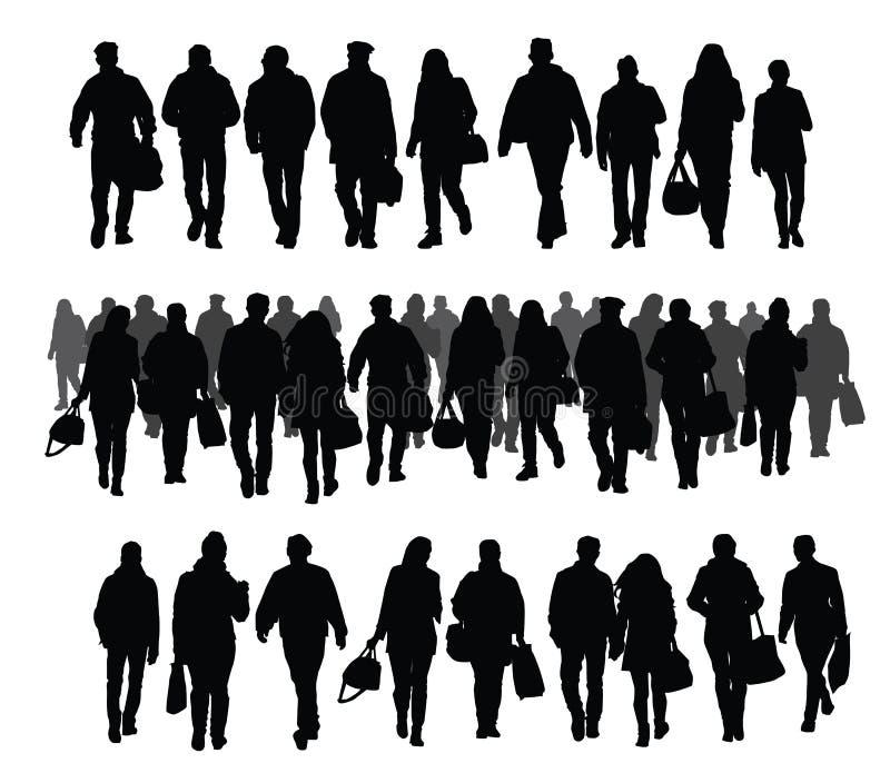 Schattenbilder der Leute vektor abbildung