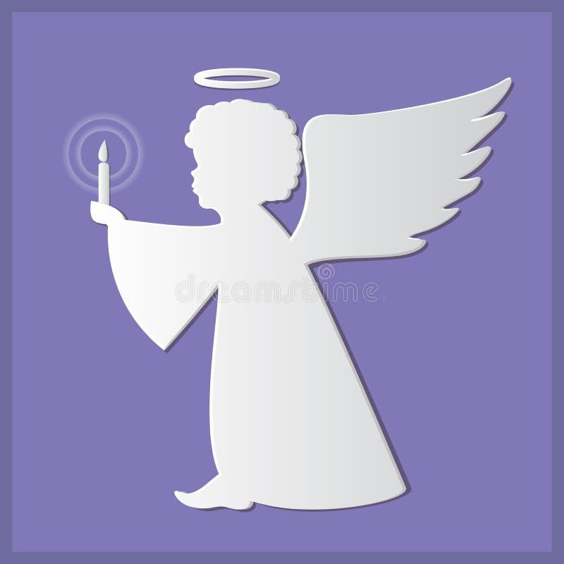 Schattenbilder von Engeln Papierkunst- und Handwerksart lizenzfreie abbildung