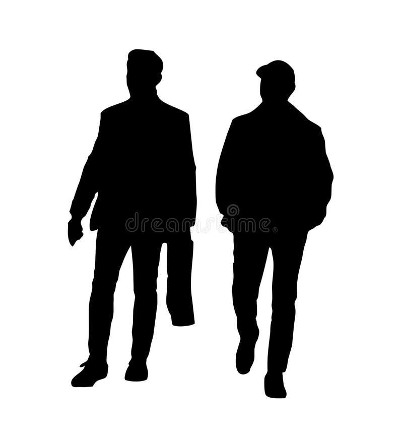Schattenbilder von zwei Männern vektor abbildung