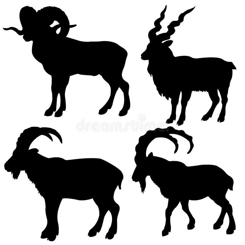 Schattenbildgebirgs-RAM vektor abbildung