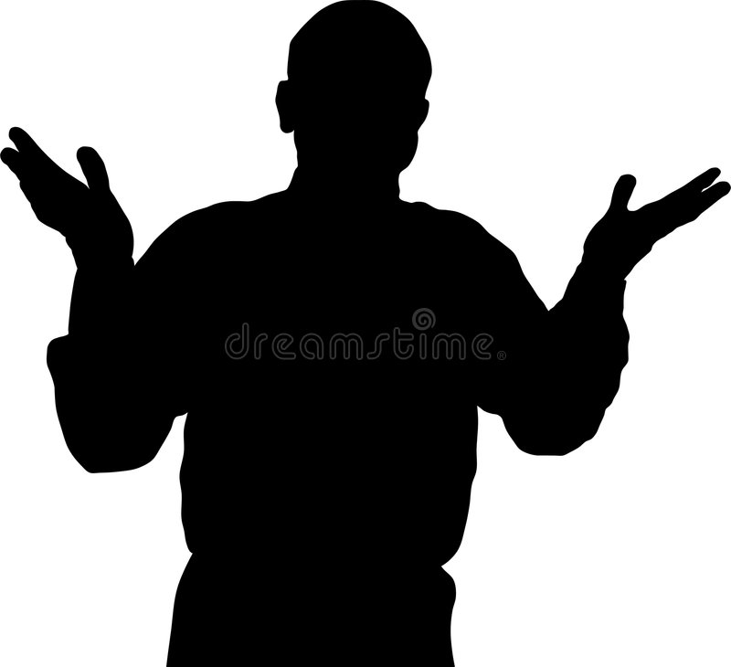 Schattenbildgeschäftsmann lizenzfreie abbildung