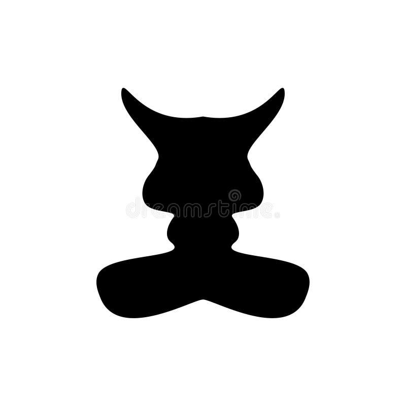 Schattenbildkatzenzeichen lizenzfreie abbildung